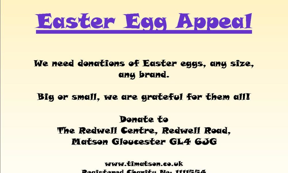 Easter Egg Appeal